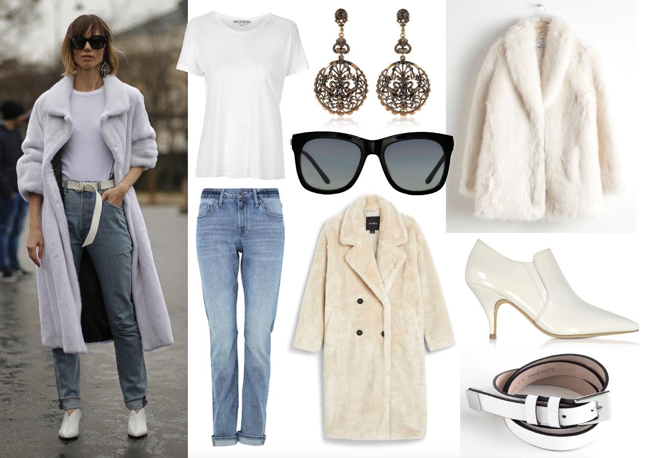 Fuskpälskappan + jeans på två sätt – Charlotta Flinkenberg