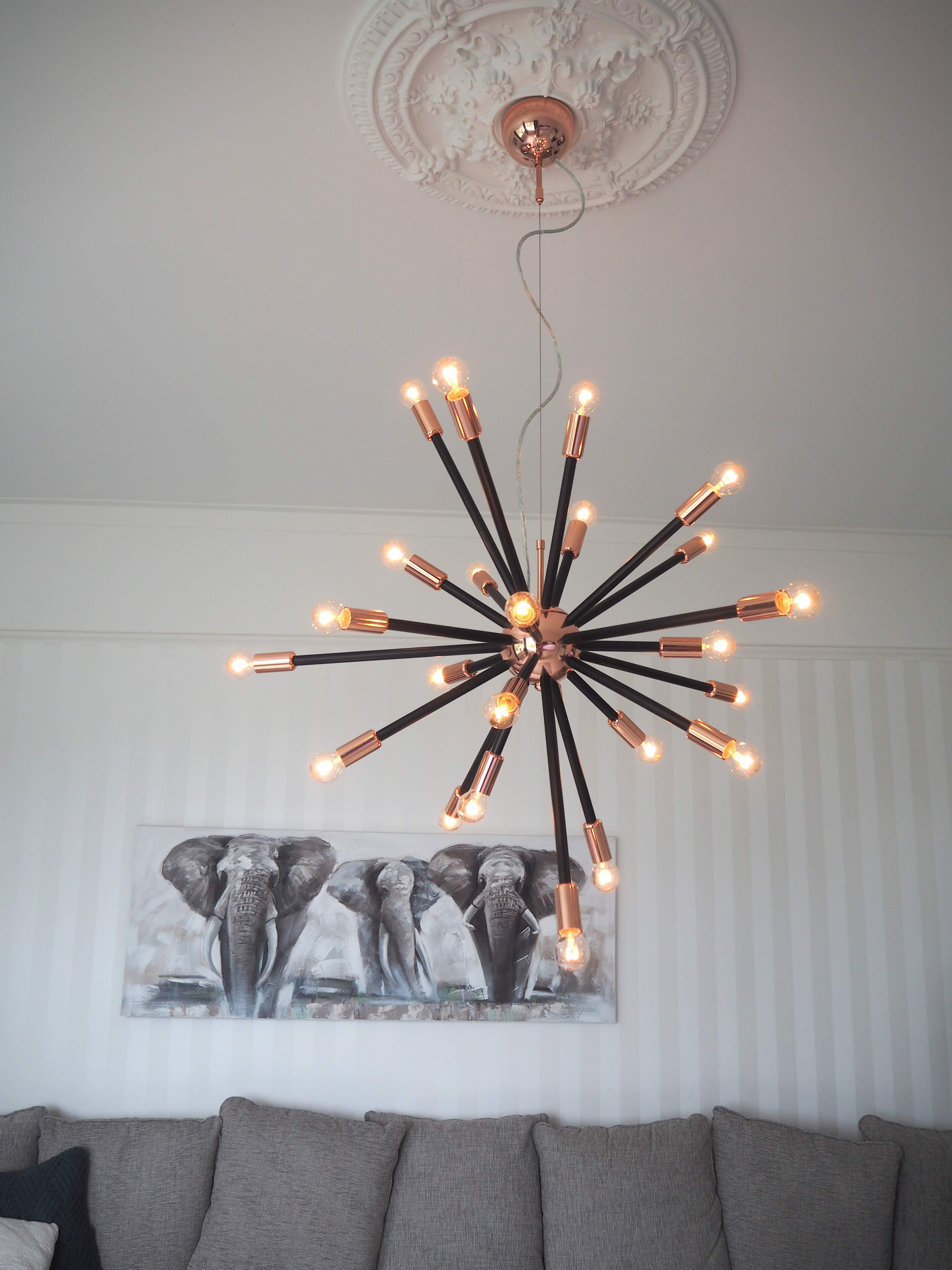Ny lampa till vardagsrummet – Charlotta Flinkenberg