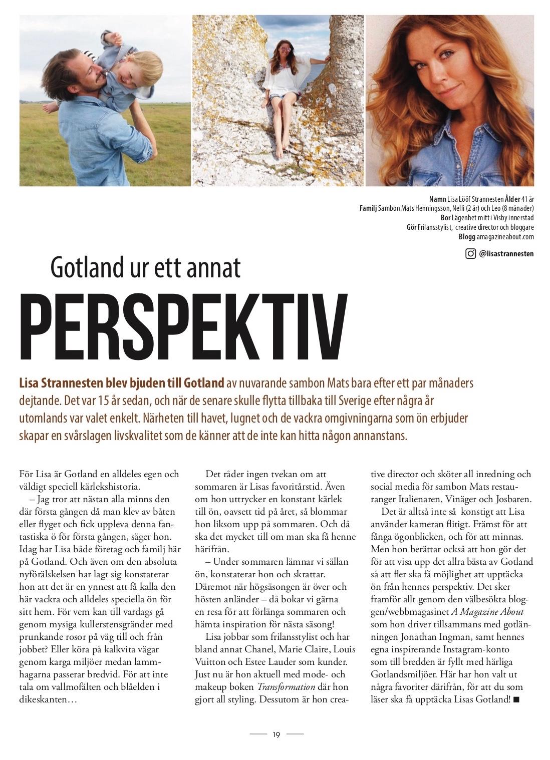 I början på året kom även mitt första jobb för Destination Gotland ut – en  guide till några av mina favoritställen på ön som publicerades i deras  magasin ... 5433c00b58410