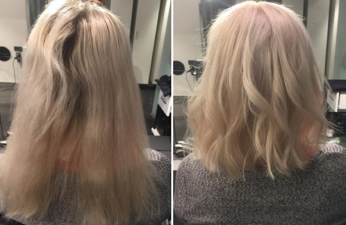 Även om jag gillar lite längd i håret så är mitt hår tunt och klarar inte  riktigt av att bli tjockt och fylligt och då spelar liksom längden mindre  roll 25b2d678e851f