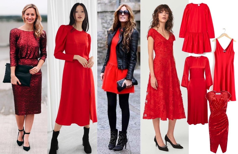 strumpbyxor till röd klänning